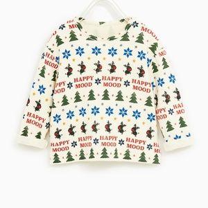 ⏰LAST CHANCE⏰ ZARA BabyBoy Soft Feel Holiday Tee